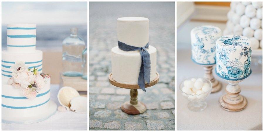 синий свадебный торт 4