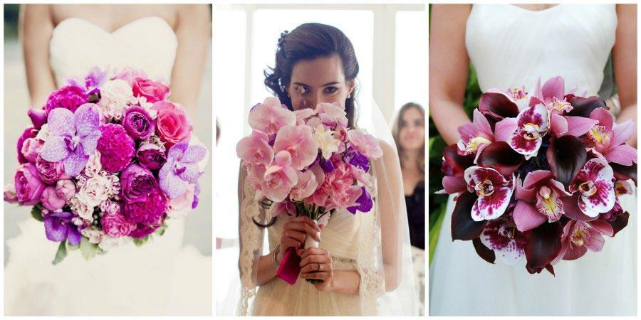 свадебный букет из орхидей 1