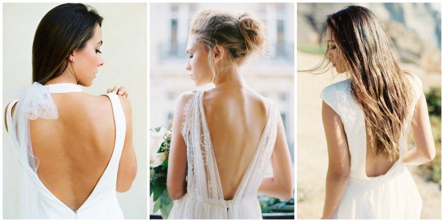 свадебные платья с открытой спиной 1