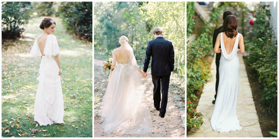свадебные платья с открытой спиной 2