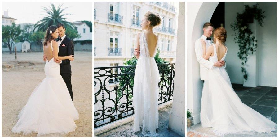 свадебные платья с открытой спиной 5