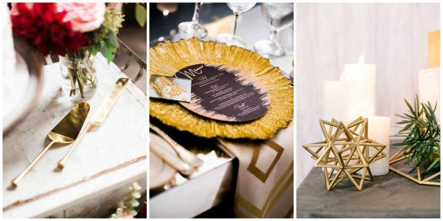 золотое оформление свадьбы 10