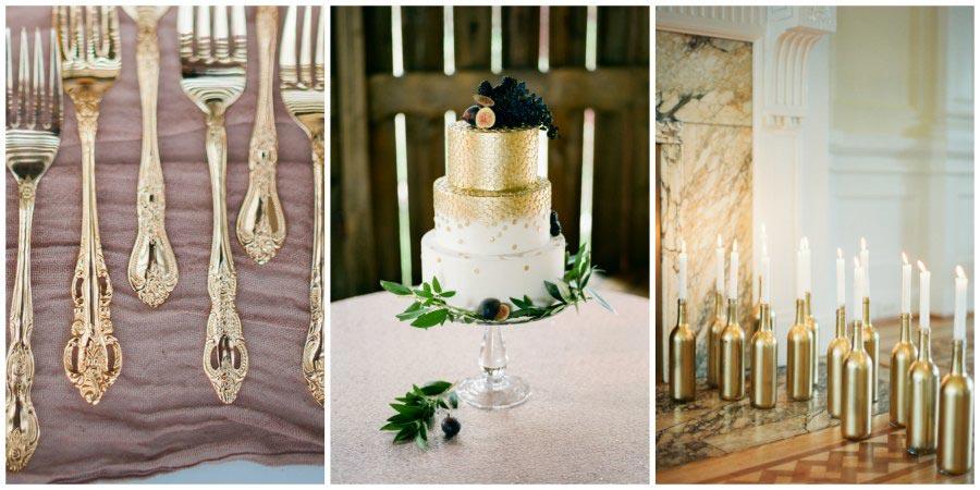 золотое оформление свадьбы 12