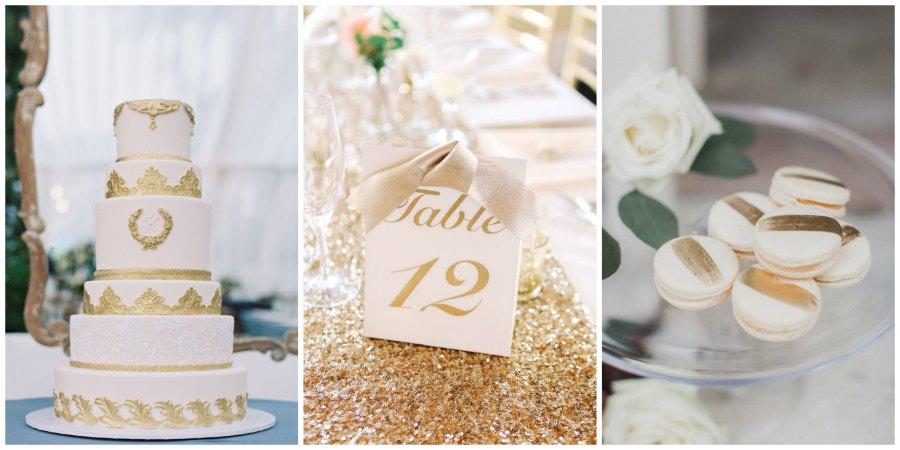 золотое оформление свадьбы 13