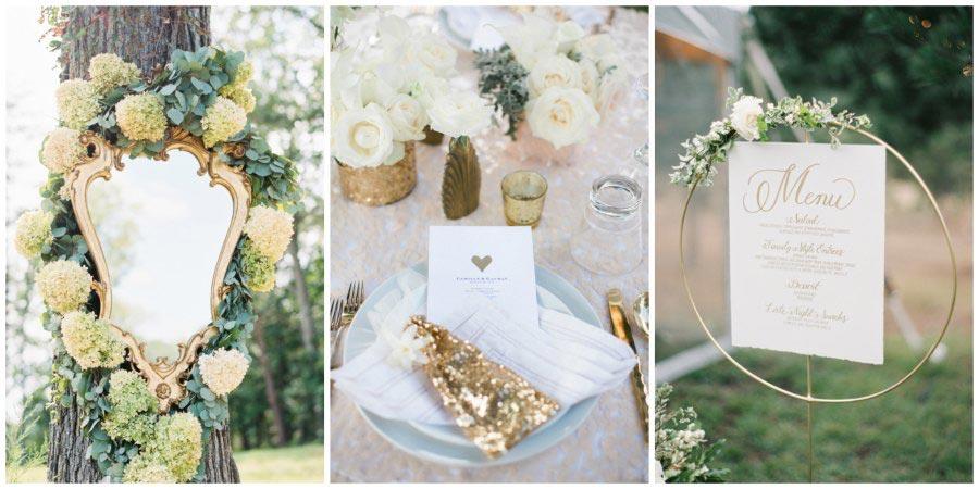 золотое оформление свадьбы 14