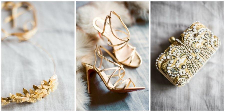 золотое оформление свадьбы 4