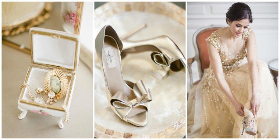 золотое оформление свадьбы 5