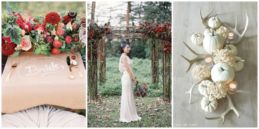 оформление осенней свадьбы 2