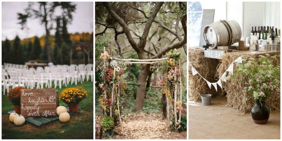 оформление осенней свадьбы 3