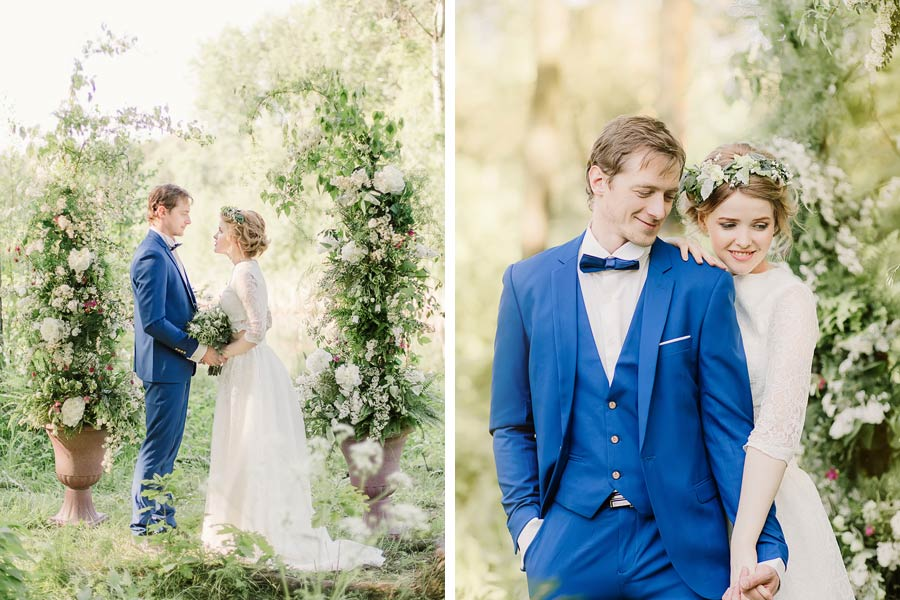 фотосессия лесная свадьба 1
