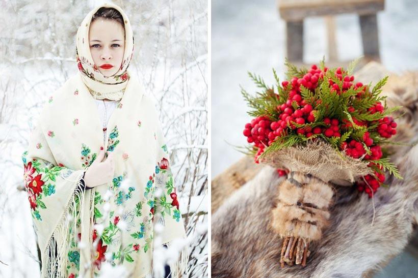 русская свадьба зимой 1