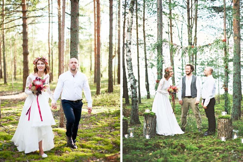свадьба в лесу 1