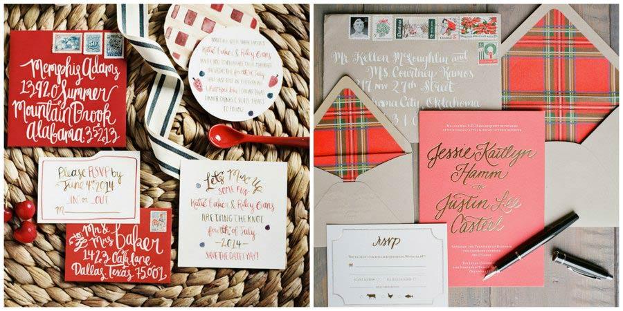 зимние приглашения на свадьбу 5
