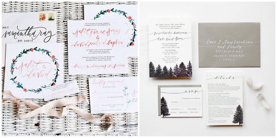 зимние приглашения на свадьбу 6