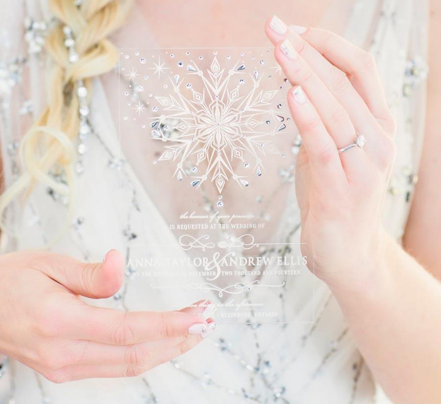 зимние приглашения на свадьбу 9