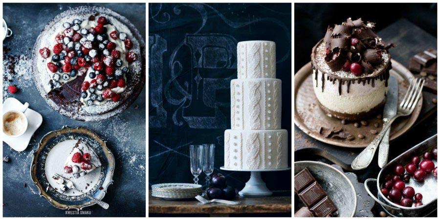 зимний свадебный торт 1