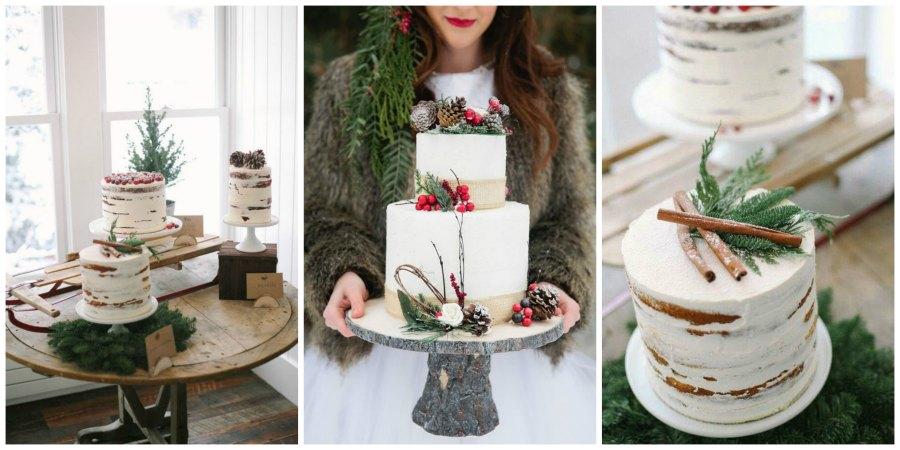 зимний свадебный торт 2