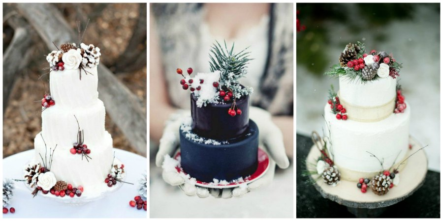 зимний свадебный торт 3