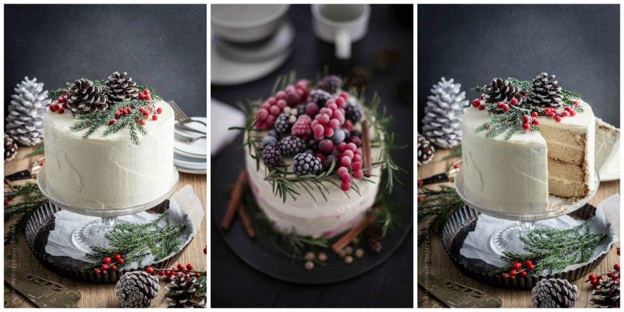 зимний свадебный торт 5