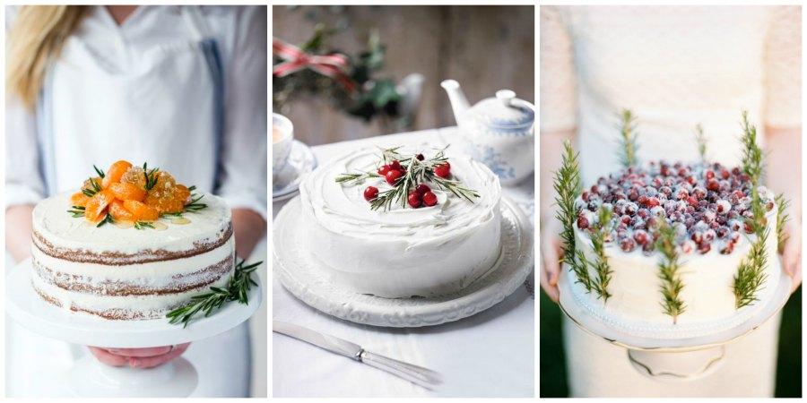 зимний свадебный торт 7