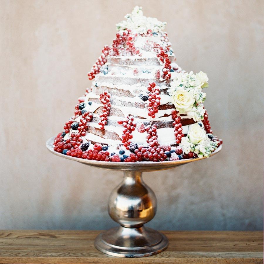 зимний свадебный торт 8