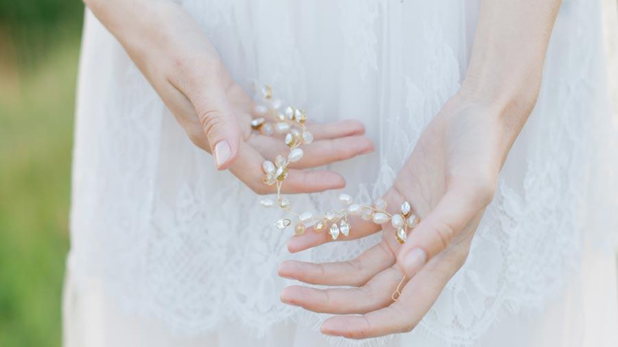 украшение прически невесты 6