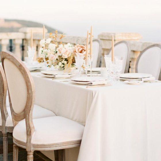 Минимализм в свадебном декоре 2017
