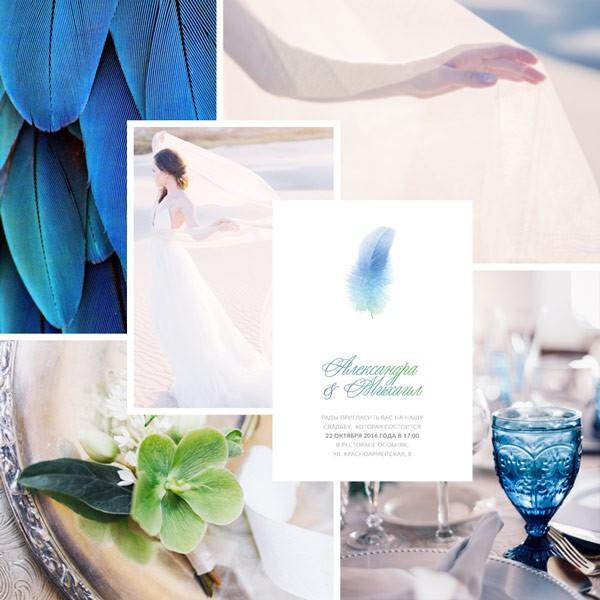 минимализм в свадебных приглашениях 2017 5