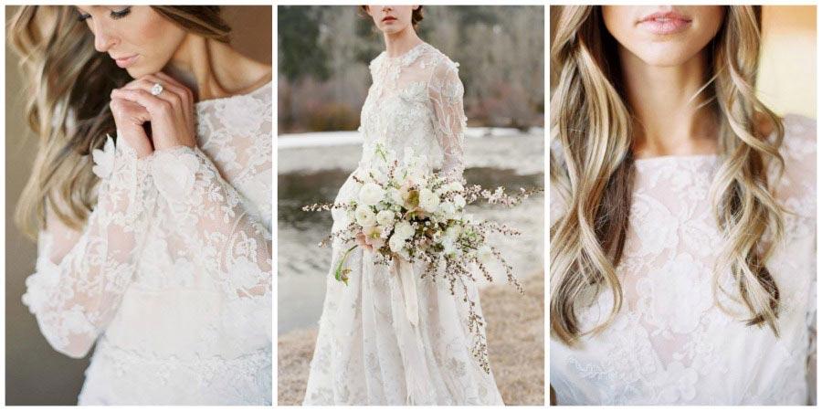 свадебные платья с цветами 1