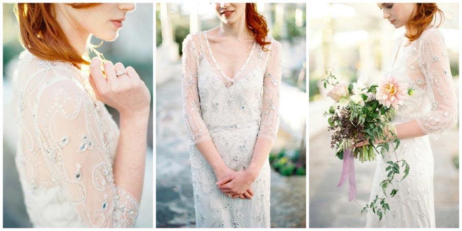 свадебные платья с цветами 10