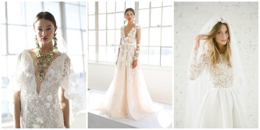свадебные платья с цветами 2