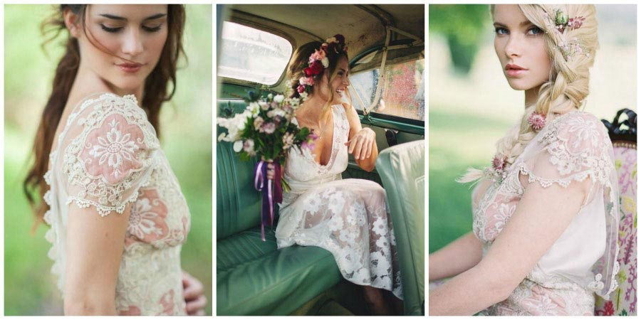 свадебные платья с цветами 3