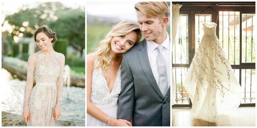 свадебные платья с цветами 4