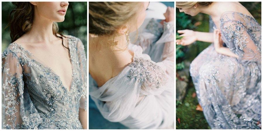 свадебные платья с цветами 5