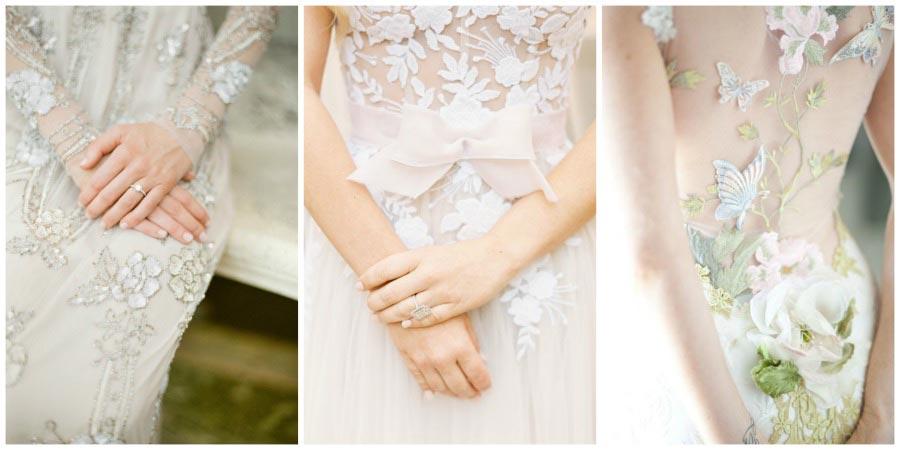 свадебные платья с цветами 6