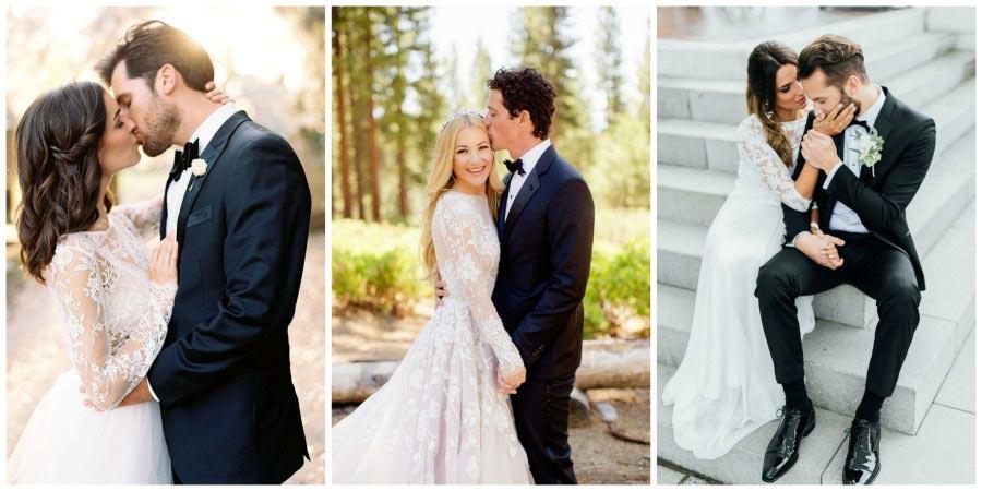 свадебные платья с цветами 7