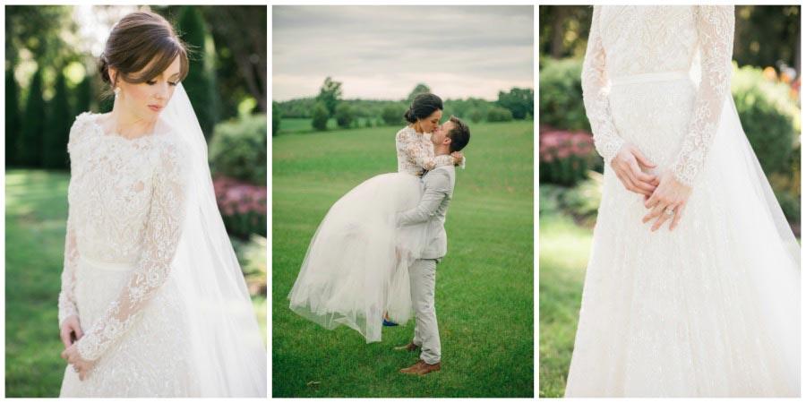свадебные платья с цветами 8