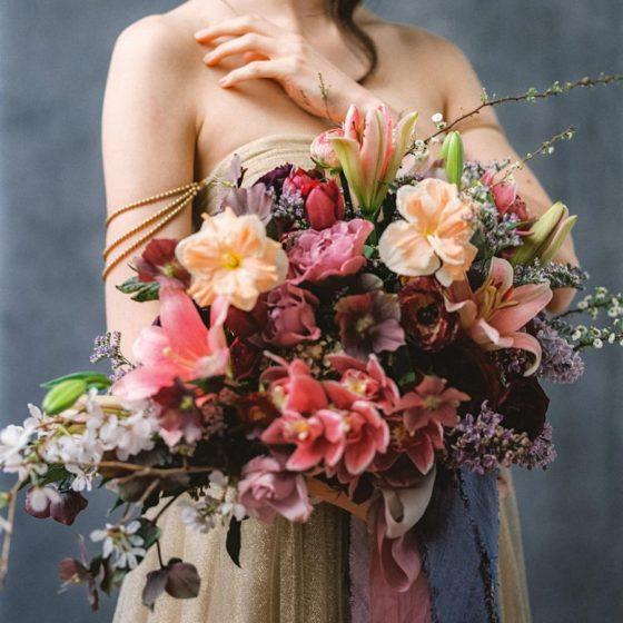 Большой букет невесты