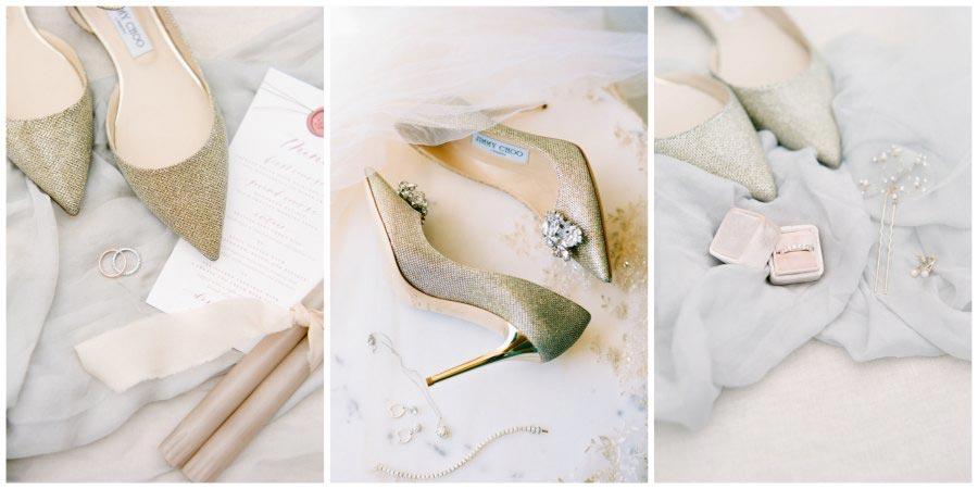 золото и другие металлы в оформлении свадьбы 11