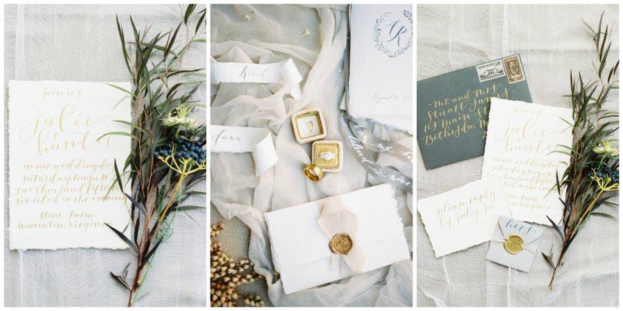 золото и другие металлы в оформлении свадьбы 13