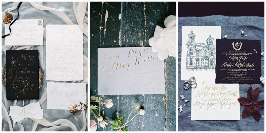 золото и другие металлы в оформлении свадьбы 14
