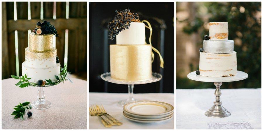 золото и другие металлы в оформлении свадьбы 15