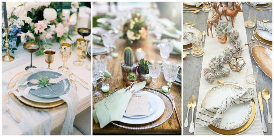золото и другие металлы в оформлении свадьбы 2