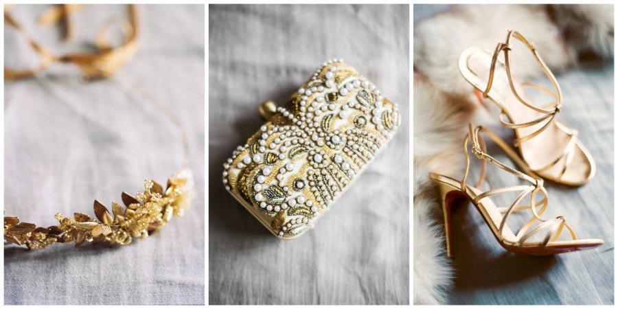 золото и другие металлы в оформлении свадьбы 9