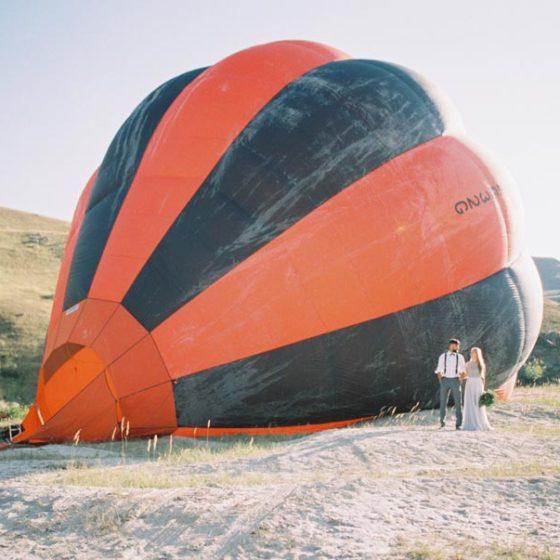 На воздушном шаре: love story Ирины и Михаила