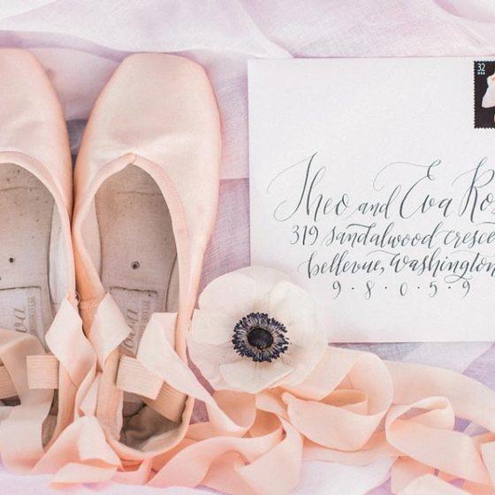 Нежная свадьба для влюбленных в балет