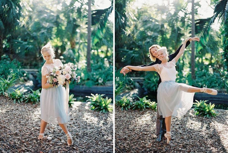 нежная свадьба для влюбленных в балет 6