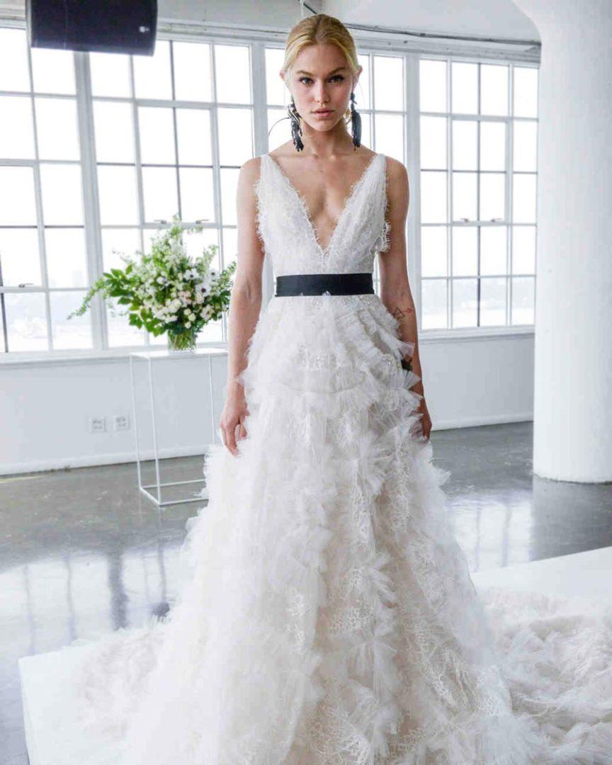 самые красивые свадебные платья 2018 29