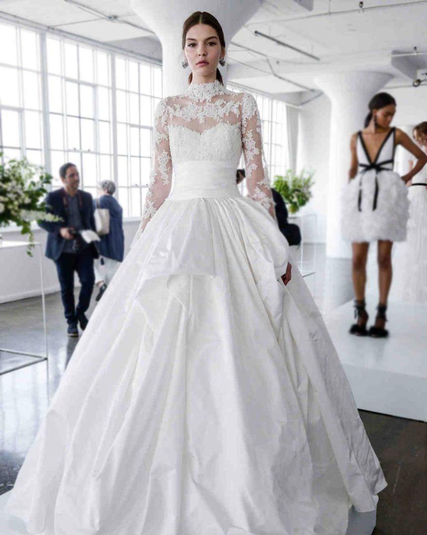 самые красивые свадебные платья 2018 4