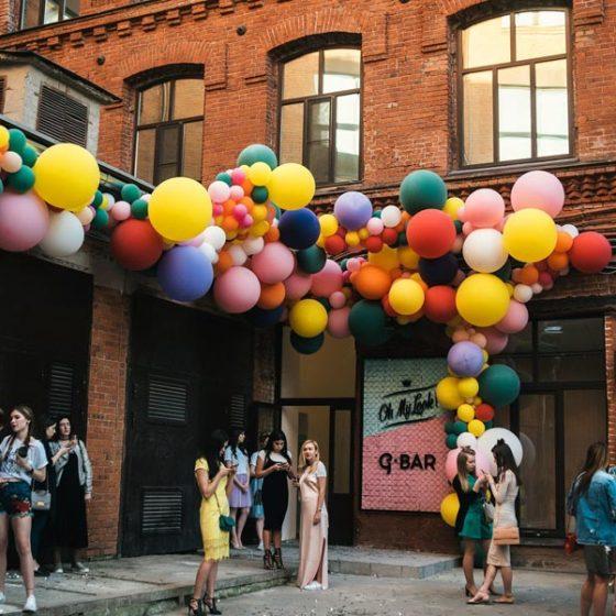 Креативное оформление свадьбы шарами